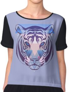Tiger Hipster Animals Gift Chiffon Top