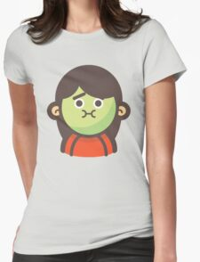 Mini Characters - Sick Girl Womens Fitted T-Shirt