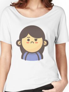 Mini Characters - Confused Woman Women's Relaxed Fit T-Shirt