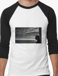 Looking Out To Sea Men's Baseball ¾ T-Shirt