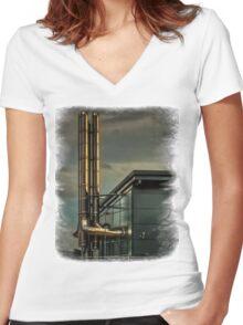 Pontefract Hospital Women's Fitted V-Neck T-Shirt