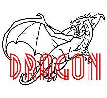 Comic Cartoon Dragon Design Photographic Print
