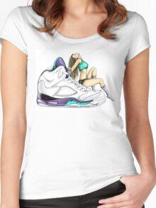 Grape 5 Jordan Girl Women's Fitted Scoop T-Shirt
