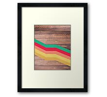 Retro Wooden Framed Print