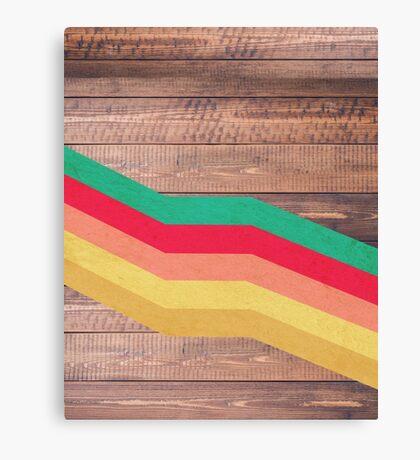 Retro Wooden Canvas Print
