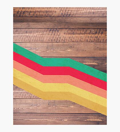 Retro Wooden Photographic Print