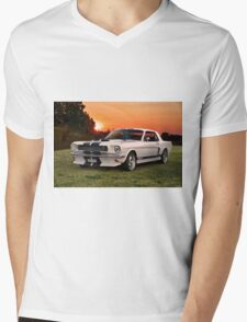 1966 Ford Mustang G.T.350 Coupe Mens V-Neck T-Shirt