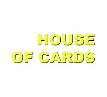 """House of Cards"" retro design Photographic Print"