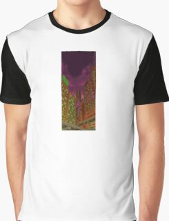 Retro Cityscape Graphic T-Shirt