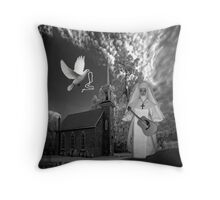 OH I'D LIKE TO GO BACK TO THAT OLD COUNTRY CHURCH-AND HEAR THE SONGS OF PRAISE - PILLOW / TOTE BAG Throw Pillow
