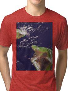 Hawaii, Maui, and Kahoolawe Islands Satellite Image  Tri-blend T-Shirt