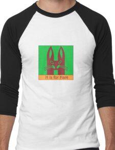 Hare Animal Alphabet Men's Baseball ¾ T-Shirt