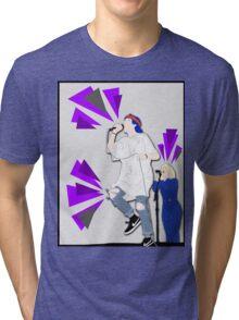 Grouplove ft. Expressive Purple Triangles Tri-blend T-Shirt