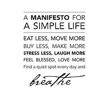 A Manifesto for a Simple Life {Pillows & Totes} by Kelly Exeter