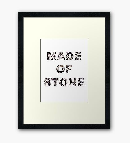 Stone Roses - Made of Stone Artwork  Framed Print