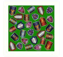 Link's Shields- Green Art Print