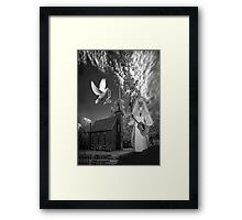 OH I'D LIKE TO GO BACK TO THAT OLD COUNTRY CHURCH-AND HEAR THE SONGS OF PRAISE - PICTURE/CARD Framed Print
