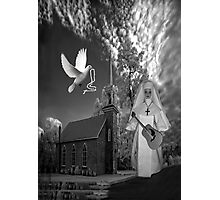 OH I'D LIKE TO GO BACK TO THAT OLD COUNTRY CHURCH-AND HEAR THE SONGS OF PRAISE - PICTURE/CARD Photographic Print