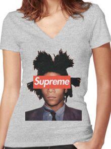 Basquiat X Supreme Women's Fitted V-Neck T-Shirt