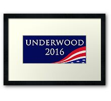 House of Cards - Underwood for President 2016 Framed Print