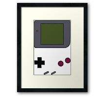 Gameboy (Transparent) Framed Print