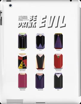 Evil Soda Cans - Female Villains Edition by oneskillwonder