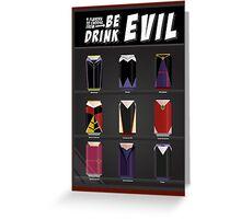 Evil Soda Cans - Female Villains Edition Greeting Card