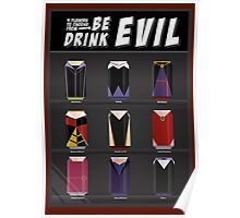 Evil Soda Cans - Female Villains Edition Poster
