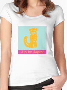 Jaguar Animal Alphabet Women's Fitted Scoop T-Shirt