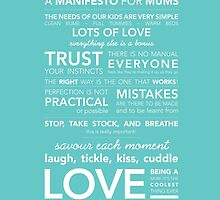 A Manifesto for Mums {Posters & Prints} by Kelly Exeter
