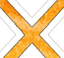 Field Hockey Orange Sticker