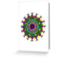 chakras mandala Greeting Card