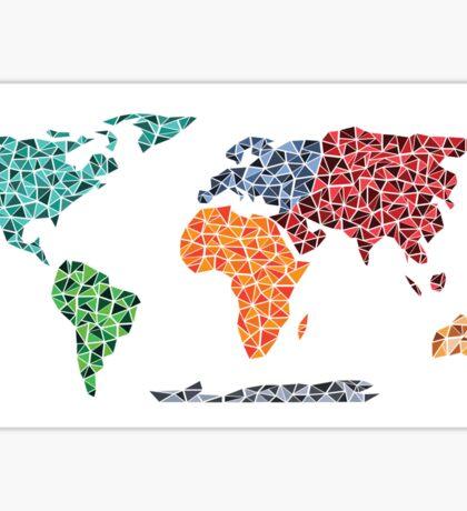 Geometric World Map Sticker
