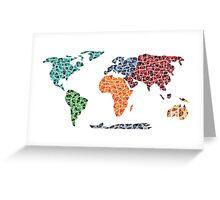 Geometric World Map Greeting Card