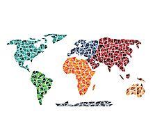 Geometric World Map Photographic Print