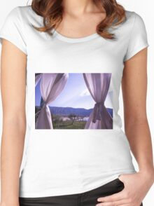 Rays of Light Between Curtines Women's Fitted Scoop T-Shirt