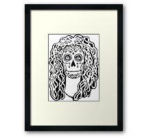 Dia de Los Muertos - Black Glue Resist Framed Print