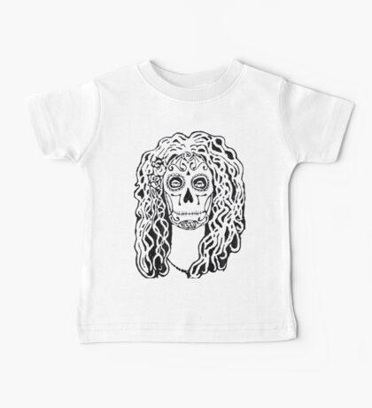 Dia de Los Muertos - Black Glue Resist Baby Tee