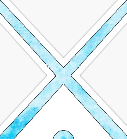 Field Hockey Light Blue Sticker