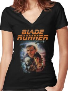 Blade Runner Shirt! Women's Fitted V-Neck T-Shirt
