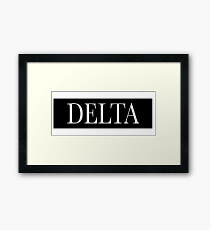 Delta Bar Framed Print