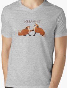 Screaming Foxes Mens V-Neck T-Shirt