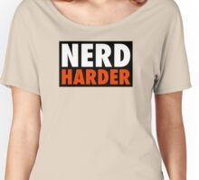 Nerd Harder Women's Relaxed Fit T-Shirt