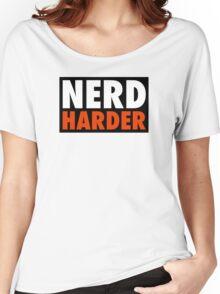 Nerd Harder Women's Relaxed Fit T-Shirt