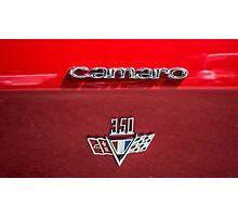 Chevrolet Camaro emblem  Photographic Print