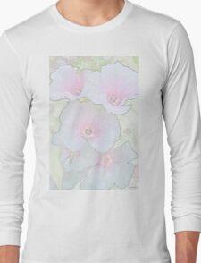 Lavatera Blossoms  Long Sleeve T-Shirt