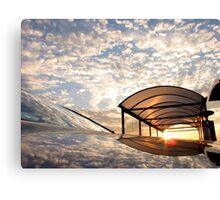 Cloudy Sky - Mirror Image Canvas Print