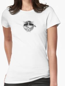 Whale & Lighthouse Womens Fitted T-Shirt