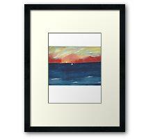 handpainted ocean Framed Print