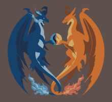 Mega Charizard X and Y: Sillhouettes Kids Clothes